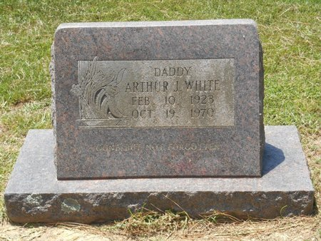 WHITE, ARTHUR J. - Bowie County, Texas | ARTHUR J. WHITE - Texas Gravestone Photos