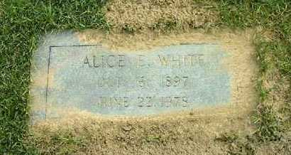 WHITE, ALICE E - Bowie County, Texas | ALICE E WHITE - Texas Gravestone Photos