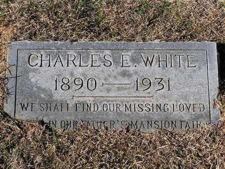 WHITE, CHARLES E - Bowie County, Texas   CHARLES E WHITE - Texas Gravestone Photos