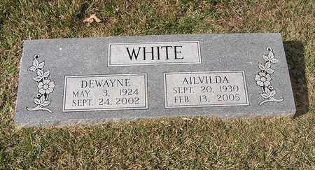WHITE, AILVILDA - Bowie County, Texas   AILVILDA WHITE - Texas Gravestone Photos