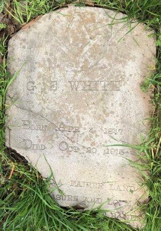 WHITE, G E - Bowie County, Texas | G E WHITE - Texas Gravestone Photos