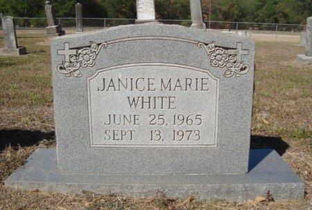 WHITE, JANICE MARIE - Bowie County, Texas   JANICE MARIE WHITE - Texas Gravestone Photos