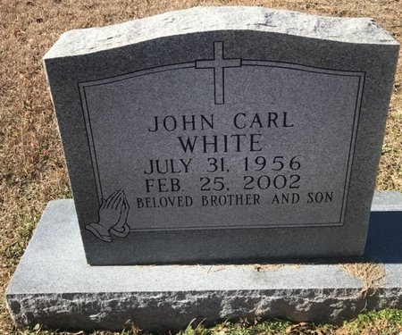 WHITE, JOHN CARL - Bowie County, Texas | JOHN CARL WHITE - Texas Gravestone Photos