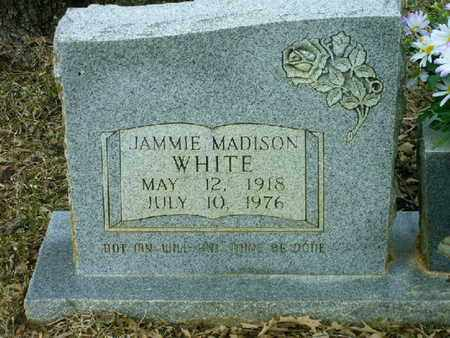 WHITE, JAMMIE MADISON (CLOSEUP) - Bowie County, Texas | JAMMIE MADISON (CLOSEUP) WHITE - Texas Gravestone Photos