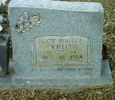 WHITE, KATIE REBECCA (CLOSEUP) - Bowie County, Texas | KATIE REBECCA (CLOSEUP) WHITE - Texas Gravestone Photos
