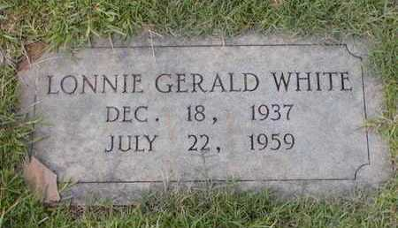 WHITE, LONNIE GERALD - Bowie County, Texas | LONNIE GERALD WHITE - Texas Gravestone Photos