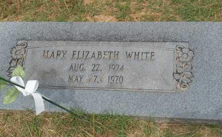 WHITE, MARY ELIZABETH - Bowie County, Texas   MARY ELIZABETH WHITE - Texas Gravestone Photos