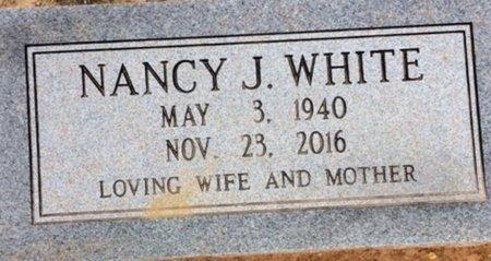 WHITE, NANCY J - Bowie County, Texas | NANCY J WHITE - Texas Gravestone Photos