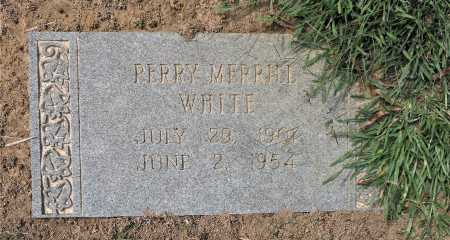 WHITE, PERRY MERRILL - Bowie County, Texas | PERRY MERRILL WHITE - Texas Gravestone Photos