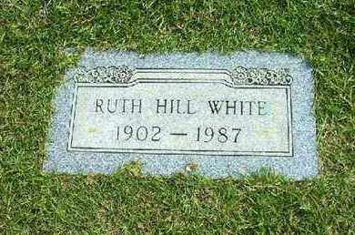 WHITE, RUTH HILL - Bowie County, Texas | RUTH HILL WHITE - Texas Gravestone Photos