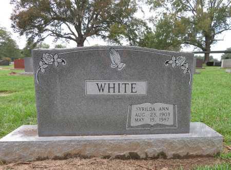 WHITE, SYRILDA ANN - Bowie County, Texas   SYRILDA ANN WHITE - Texas Gravestone Photos
