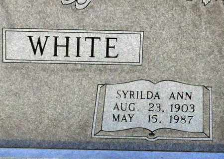 WHITE, SYRILDA ANN (CLOSEUP) - Bowie County, Texas | SYRILDA ANN (CLOSEUP) WHITE - Texas Gravestone Photos