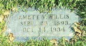WILLIS, EMETT V - Bowie County, Texas | EMETT V WILLIS - Texas Gravestone Photos