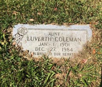COLEMAN, LUVERTH - Brazoria County, Texas   LUVERTH COLEMAN - Texas Gravestone Photos