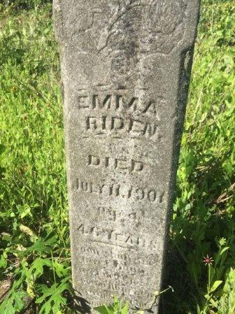 RIDEN, EMMA - Brazos County, Texas | EMMA RIDEN - Texas Gravestone Photos