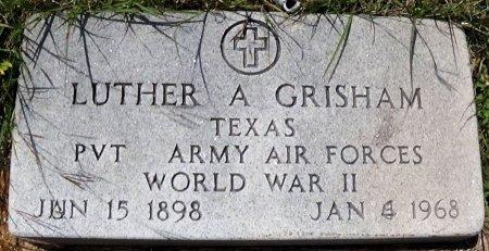 GRISHAM (VETERAN WWII), LUTHER ALLISON - Brown County, Texas   LUTHER ALLISON GRISHAM (VETERAN WWII) - Texas Gravestone Photos