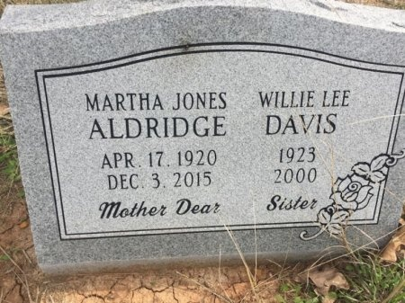 ALDRIDGE, MARTHA - Burleson County, Texas | MARTHA ALDRIDGE - Texas Gravestone Photos