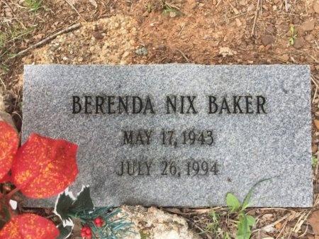 NIX BAKER, BRENDA - Burleson County, Texas | BRENDA NIX BAKER - Texas Gravestone Photos