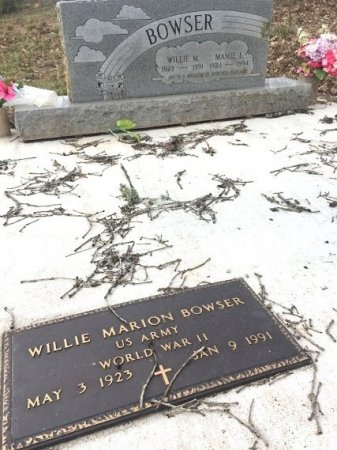 BOWSER (VETERAN WWII), WILLIE MARION - Burleson County, Texas | WILLIE MARION BOWSER (VETERAN WWII) - Texas Gravestone Photos