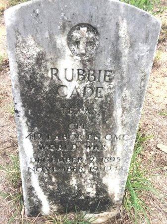 CADE (VETERAN WWI), RUBBIE - Burleson County, Texas | RUBBIE CADE (VETERAN WWI) - Texas Gravestone Photos