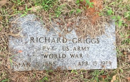 GRIGGS (VETERAN WWI), RICHARD - Burleson County, Texas   RICHARD GRIGGS (VETERAN WWI) - Texas Gravestone Photos