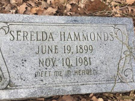 HAMMONDS, SERELDA - Burleson County, Texas | SERELDA HAMMONDS - Texas Gravestone Photos