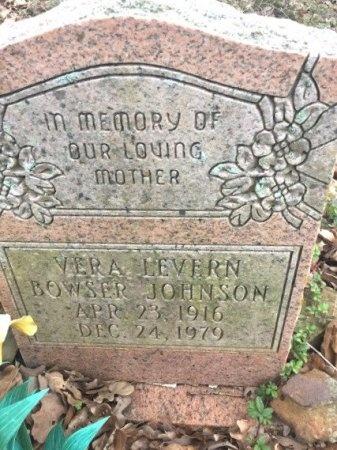 BOWSER JOHNSON, VERA LEVERN - Burleson County, Texas   VERA LEVERN BOWSER JOHNSON - Texas Gravestone Photos
