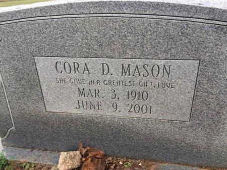 MASON, CORA D. - Burleson County, Texas   CORA D. MASON - Texas Gravestone Photos