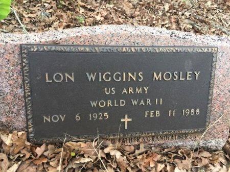 MOSLEY (VETERAN WWII), LON WIGGINS - Burleson County, Texas | LON WIGGINS MOSLEY (VETERAN WWII) - Texas Gravestone Photos