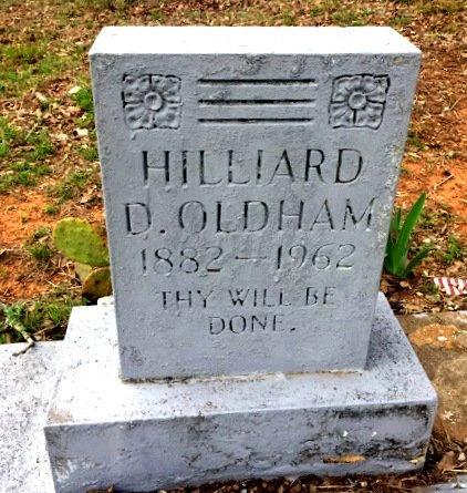 OLDHAM, HILLIARD D. - Burleson County, Texas | HILLIARD D. OLDHAM - Texas Gravestone Photos