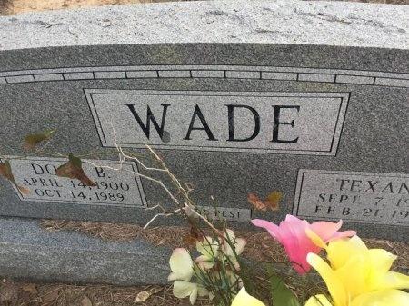 WADE, TEXANA - Burleson County, Texas   TEXANA WADE - Texas Gravestone Photos