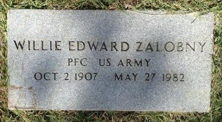 ZALOBNY (VETERAN), WILLIE EDWARD - Burleson County, Texas | WILLIE EDWARD ZALOBNY (VETERAN) - Texas Gravestone Photos
