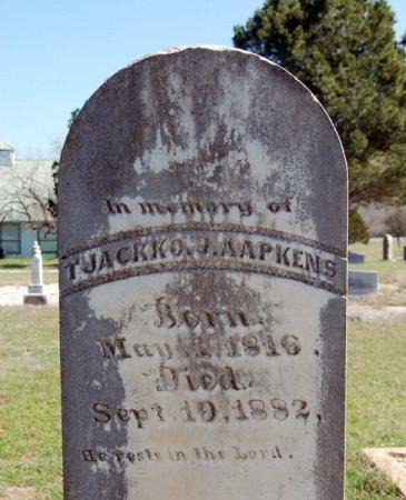 AAPKENS, TJACKKO J. (CLOSEUP) - Burnet County, Texas | TJACKKO J. (CLOSEUP) AAPKENS - Texas Gravestone Photos