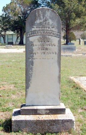 AAPKENS, TJACKKO J. - Burnet County, Texas | TJACKKO J. AAPKENS - Texas Gravestone Photos