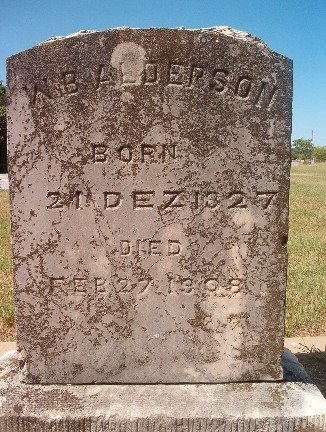 ALDERSON, WILLIAM B. - Burnet County, Texas | WILLIAM B. ALDERSON - Texas Gravestone Photos