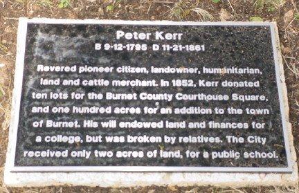 KERR, PETER - Burnet County, Texas | PETER KERR - Texas Gravestone Photos