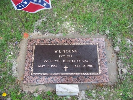 YOUNG (VETERAN CSA), W L - Burnet County, Texas | W L YOUNG (VETERAN CSA) - Texas Gravestone Photos