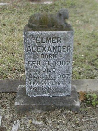 ALEXANDER, ELMER - Caldwell County, Texas | ELMER ALEXANDER - Texas Gravestone Photos