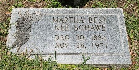 SCHAWE BEST, MARTHA - Caldwell County, Texas | MARTHA SCHAWE BEST - Texas Gravestone Photos