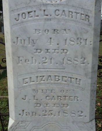 CARTER, ELIZABETH - Caldwell County, Texas | ELIZABETH CARTER - Texas Gravestone Photos