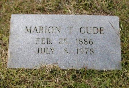 CUDE, MARION T. - Caldwell County, Texas   MARION T. CUDE - Texas Gravestone Photos