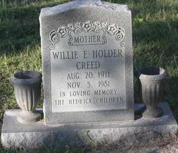HOLDER CREED, WILLIE E - Calhoun County, Texas   WILLIE E HOLDER CREED - Texas Gravestone Photos