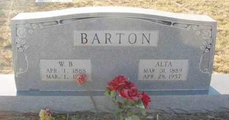 BARTON, W B - Callahan County, Texas | W B BARTON - Texas Gravestone Photos
