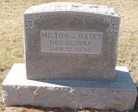 BATES, MILTON J - Callahan County, Texas | MILTON J BATES - Texas Gravestone Photos