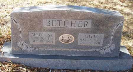 BETCHER, LILLIE - Callahan County, Texas | LILLIE BETCHER - Texas Gravestone Photos