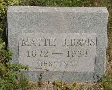 DAVIS, MATTIE B. - Callahan County, Texas | MATTIE B. DAVIS - Texas Gravestone Photos