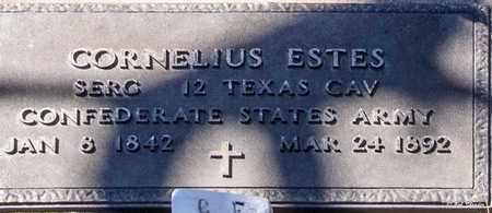 ESTES (VETERAN CSA), CORNELIUS - Callahan County, Texas | CORNELIUS ESTES (VETERAN CSA) - Texas Gravestone Photos