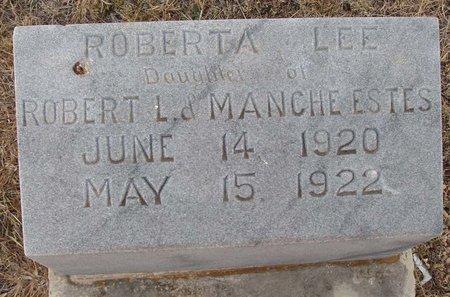 ESTES, ROBERTA LEE - Callahan County, Texas | ROBERTA LEE ESTES - Texas Gravestone Photos