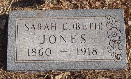 JONES, SARAH E. (BETH) - Callahan County, Texas | SARAH E. (BETH) JONES - Texas Gravestone Photos