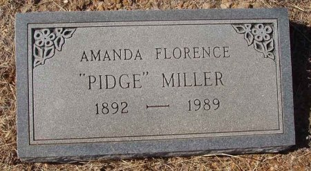 MILLER, AMANDA FLORENCE  - Callahan County, Texas | AMANDA FLORENCE  MILLER - Texas Gravestone Photos